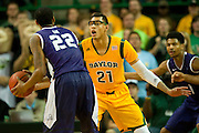 WACO, TX - JANUARY 11: Isaiah Austin #21 of the Baylor Bears defends against the TCU Horned Frogs on January 11, 2014 at the Ferrell Center in Waco, Texas.  (Photo by Cooper Neill/Getty Images) *** Local Caption *** Isaiah Austin