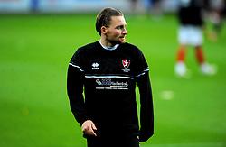 Alfie May of Cheltenham Town warms up prior to kick-off- Mandatory by-line: Nizaam Jones/JMP - 20/10/2020 - FOOTBALL - Jonny-Rocks Stadium - Cheltenham, England - Cheltenham Town v Scunthorpe United - Sky Bet League Two