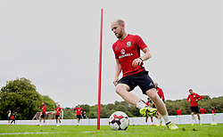 CARDIFF, WALES - Tuesday, August 29, 2017: Wales' Jonathan Williams during a training session at the Vale Resort ahead of the 2018 FIFA World Cup Qualifying Group D match against Austria. (Pic by David Rawcliffe/Propaganda)