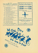 Ride a Monarch Ad by the Monarch cycling Mfg Co. Appeared in a monthly magazine called 'Birds : illustrated by color photography' a monthly serial. Knowledge of Bird-life in 1897.