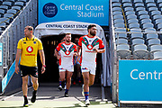 Peta Hiku leads the Warriors out for warmup. Vodafone Warriors v Manly Sea Eagles. NRL Rugby League, Central Coast Stadium, Gosford, NSW, Australia, Sunday 27th September 2020 Copyright Photo: David Neilson / www.photosport.nz