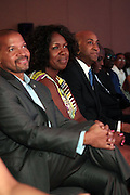 Miami Beach, Florida, NY-June 23: (L-R) Don Butler, VP, Cadillac, Jocelyn Allen, Cadillac, and Mark Pittts, President, Coffe and Te, Coca Cola attend the 2012 American Black Film Festival Winners Circle Awards Presentation held at the Ritz Carlton Hotel on June 23, 2012 in Miami Beach, Florida (Photo by Terrence Jennings)