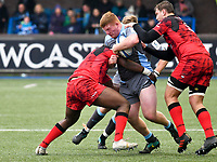 Rugby Union - 2018 / 2019 European Rugby Champions Cup - Pool Three: Cardiff Blues vs. Lyon<br /> <br /> Rhys Carré, of Cardiff Blues: attacks, at Cardiff Arms Park.<br /> <br /> COLORSPORT/WINSTON BYNORTH