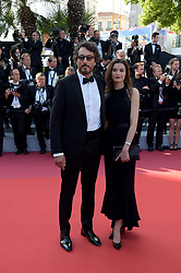 May 25, 2019 - Cannes, France - 72nd Cannes Film Festival 2019, Closing Ceremony Red Carpet. Pictured:  Vincent Elbaz, Fanny Conquy (Credit Image: © Alberto Terenghi/IPA via ZUMA Press)