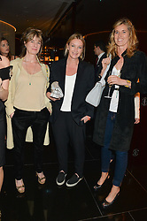 Left to right, AMANDA LEVETE, ANYA HINDMARCH and ARABELLA POLLEN at the Launch Of Alain Ducasse's Rivea Restaurant At The Bulgari Hotel, 171 Knightsbridge, London on 8th May 2014.