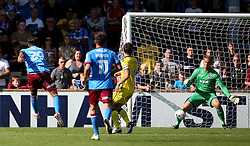 Kyle Wootton of Scunthorpe United scores his sides second goal  - Mandatory by-line: Matt McNulty/JMP - 06/08/2016 - FOOTBALL - Glanford Park - Scunthorpe, England - Scunthorpe United v Bristol Rovers - Sky Bet League One