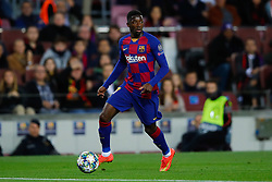 November 5, 2019, Barcelona, Catalonia, Spain: November 5, 2019 - Barcelona, Spain - Uefa Champions League Stage Group, FC Barcelona v Slavia Praga: Ousmane Dembele of FC Barcelona controls the ball. (Credit Image: © Eric Alonso/ZUMA Wire)