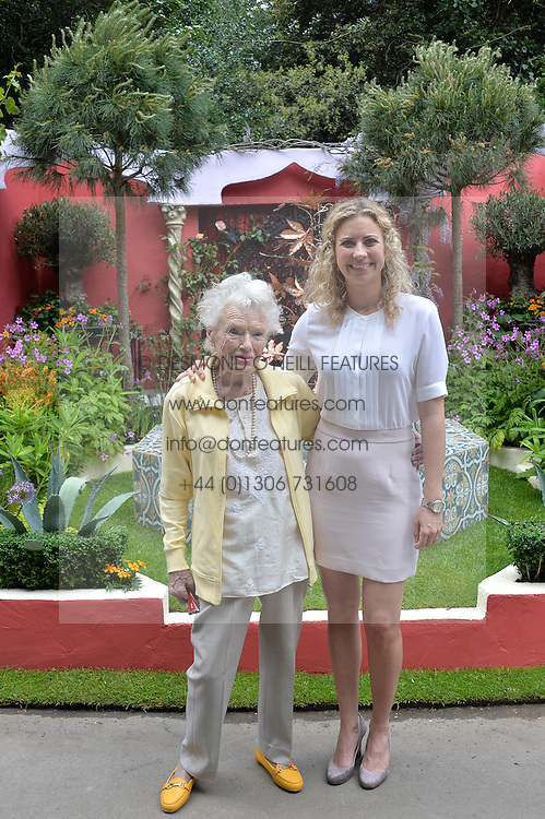 EVE BRANSON and her grandaughter  HOLLY BRANSON at the 2014 RHS Chelsea Flower Show held at the Royal Hospital Chelsea, London on 19th May 2014.