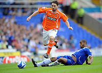 Birmingham City/Blackpool Championship 20.09.08 <br /> Photo: Tim Parker Fotosports International<br /> Cameron Jerome Birmingham & Shaun Barker Blackpool