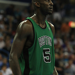 11 February 2009:  Boston Celtics forward Kevin Garnett (5) during a 89-77 loss by the New Orleans Hornets to the Boston Celtics at the New Orleans Arena in New Orleans, LA.