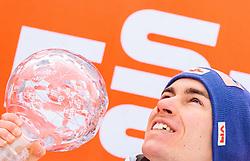 26.03.2017, Planica, Ratece, SLO, FIS Weltcup Ski Sprung, Planica, Siegerehrung, im Bild Gesamtweltcup- und Skiflug Weltcup Sieger Stefan Kraft (AUT) // Overall World Cup and Ski Flying World Cup winner Stefan Kraft of Austria during the Winner Award Ceremony of the FIS Ski Jumping World Cup Final 2017 at Planica in Ratece, Slovenia on 2017/03/26. EXPA Pictures © 2017, PhotoCredit: EXPA/ JFK