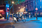 PEDICABS, Leicester Sq. London. 13 August 2013.