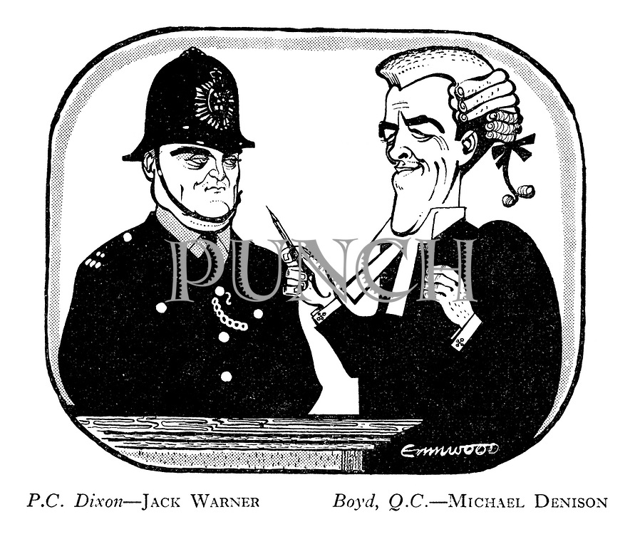 PC Dixon — Jack Warner Boyd, QC. — Michael Denison