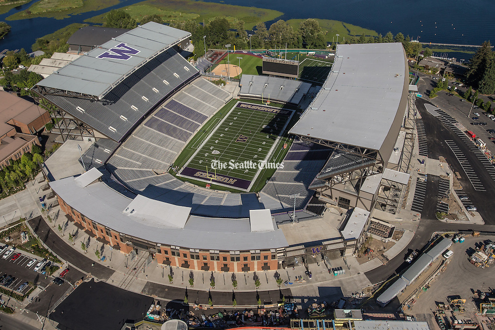 A newly renovated Husky Stadium ready to make its debut in a rematch of UW against Boise State.<br /> <br /> By Dean Rutz / The Seattle Times