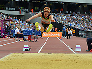 SVK long jumper Jana Veldakova during the Sainsbury's Anniversary Games at the Queen Elizabeth II Olympic Park, London, United Kingdom on 25 July 2015. Photo by Mark Davies.