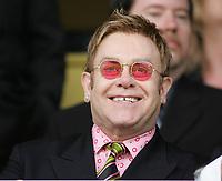 Photo: Lee Earle.<br /> Watford v Hull. Coca Cola Championship. 30/04/2006. Watford's Honorary Life-President Sir Elton John watches on.