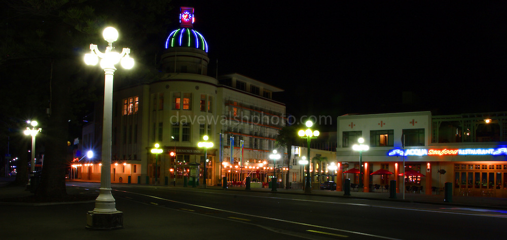 Napier, New Zealand - the art deco town that was created following the 1931 earthquake...