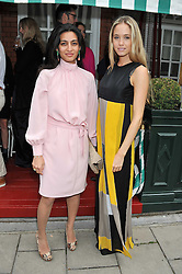 Left to right, MEGHA MITTAL and FLORENCE BRUDENELL-BRUCE at a lunch to celebrate the the Lulu & Co Autumn/Winter 2011 collection held at Harry's Bar, 26 South Audley Street, London W1 on 21st June 2011.