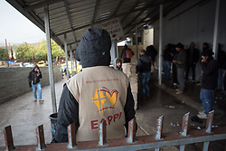 1 March 2020, Bethlehem: A participant in the World Council of Churches Ecumenical Accompaniment Programme in Palestine and Israel monitors entrance to Checkpoint 300, where tens of thousands of Palestinians, most of them working in construction and maintenance, cross from Bethlehem to Jerusalem in the mornings.