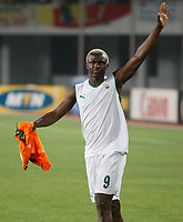 Photo: Steve Bond/Richard Lane Photography.<br />Nigeria v Ivory Coast. Africa Cup of Nations. 21/01/2008. Arouna Kone of Ivory Coast after the win against Nigeria