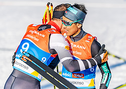 28.02.2019, Seefeld, AUT, FIS Weltmeisterschaften Ski Nordisch, Seefeld 2019, Nordische Kombination, Langlauf, im Bild v.l. Bernhard Gruber (AUT), Akito Watabe (JPN) // f.l. Bernhard Gruber of Austria and Akito Watabe of Japan during the Cross Country Competition of Nordic Combined for the FIS Nordic Ski World Championships 2019. Seefeld, Austria on 2019/02/28. EXPA Pictures © 2019, PhotoCredit: EXPA/ Stefan Adelsberger