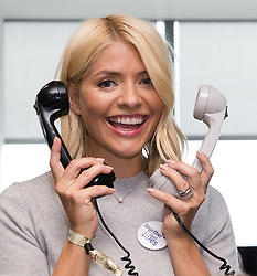© Licensed to London News Pictures. 11/09/2018. London, UK.  Holly Willoughby at the 14th Annual BGC Charity Day held on the trading floor of BGC Partners in Canary Wharf, to raise money for charitable causes in commemoration of BGC's 658 colleagues and the 61 Eurobrokers employees lost on 9/11.  Photo credit: Vickie Flores/LNP