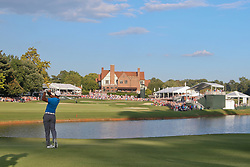 September 22, 2018 - Atlanta, Georgia, United States - Tiger Woods hits a fairway shot on the 18th hole during the third round of the 2018 TOUR Championship. (Credit Image: © Debby Wong/ZUMA Wire)