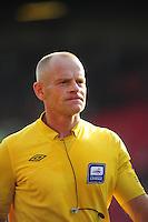 Referee Andy Woolmer..Football - npower Football League Championship - Barnsley v Blackpool - Saturday 15th September 2012 - Oakwell Stadium - Barnsley..