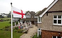 SANDWICH (GB) - Clubhuis. The Royal St. George's Golf Club (1887), één van de oudste en meest beroemde golfclubs in Engeland. COPYRIGHT KOEN SUYK
