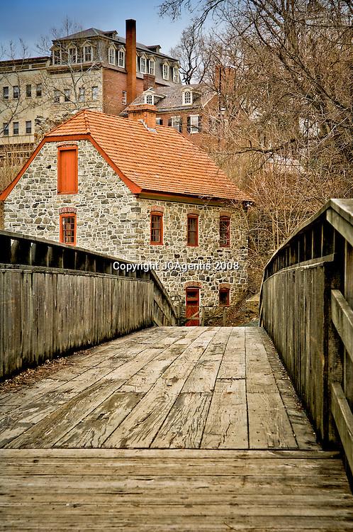 Historic Waterworks in Bethlehem's Colonial quarter Bethlehem Pennsylvania