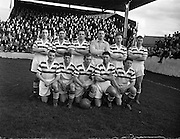 02/11/1957<br /> 11/02/1957<br /> 02 November 1957<br /> Soccer: Limerick v Shamrock Rovers at Glenmalure Park, Milltown, Dublin. The Shamrock Rovers team.