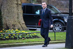 © Licensed to London News Pictures. 16/01/2018. London, UK. Secretary of State for Wales Alun Cairns arrives on Downing Street for the weekly Cabinet meeting. Photo credit: Rob Pinney/LNP