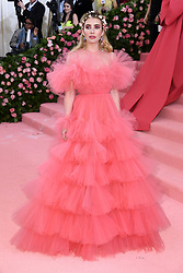 "Emma Roberts at the 2019 Costume Institute Benefit Gala celebrating the opening of ""Camp: Notes on Fashion"".<br />