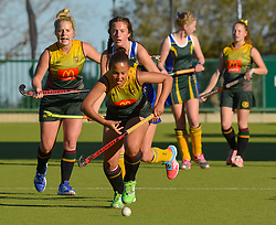 Ame Coetzee of HMS Bloemhof during day one of the FNB Private Wealth Super 12 Hockey Tournament held at Oranje Meisieskool in Bloemfontein, South Africa on the 6th August 2016<br /> <br /> Photo by:   Frikkie Kapp / Real Time Images