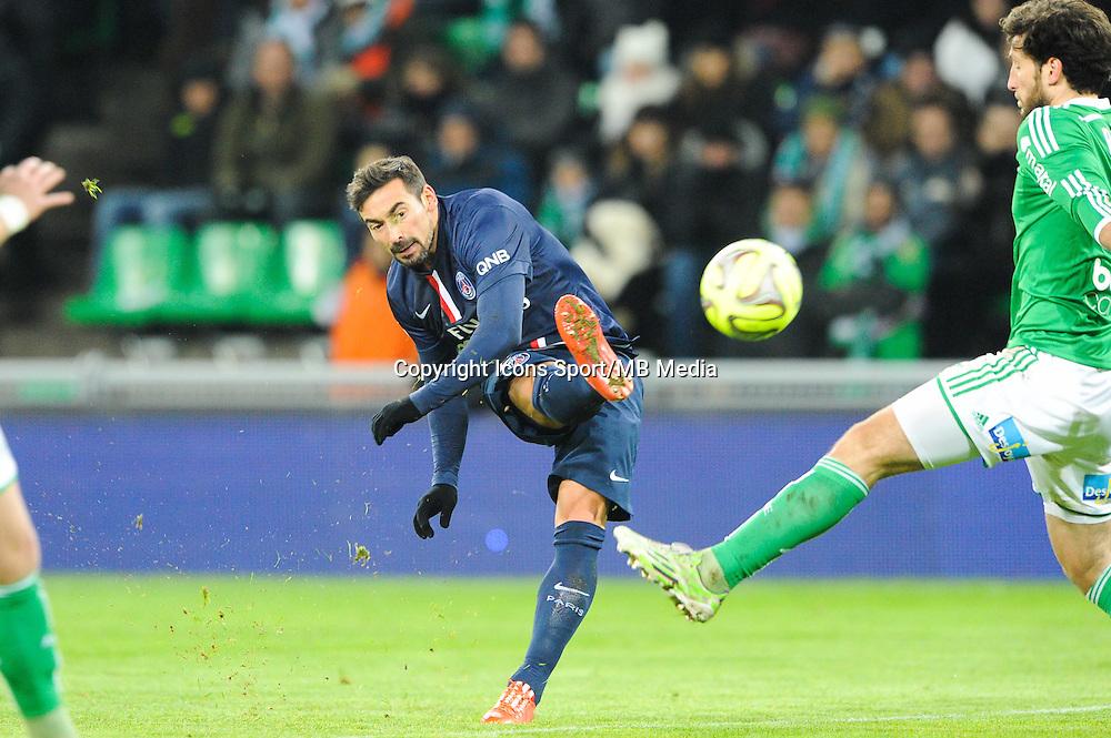 Ezequiel LAVEZZI - 25.01.2015 - Saint Etienne / PSG - 22eme journee de Ligue1<br /> Photo : Jean Paul Thomas / Icon Sport