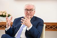 02 FEB 2021, BERLIN/GERMANY:<br /> Frank-Walter Steinmeier, Bundespraesident, waehrend einem Interview, Robert-Blum-Saal, Schloss Bellevue<br /> IMAGE: 20210202-01-037<br /> KEYWORDS: BUndespräsident