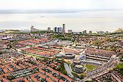 Nederland, Zeeland, Walcheren, 09-05-2013; Vlissingen, boulevard en Westerschelde.<br /> Flushing, esplanade and Western Scheldt.<br /> luchtfoto (toeslag op standard tarieven)<br /> aerial photo (additional fee required)<br /> copyright foto/photo Siebe Swart