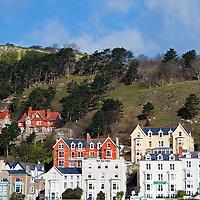 Europe, United Kingdom, Wales, Llandudno. Victorian Houses of Llandudno.