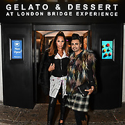 HunnyB - Jennifer Lopez lookalike and Mr Fabulous - Jay Kamiraz arrived BBC1 All Together Now Series 1 Cast Members, fright night at The London Bridge Experience & London Tombs on 28 October 2018, London, UK.