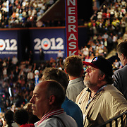 A moment of reflection on the floor of the 2012 Democratic National Convention
