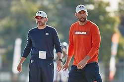 July 28, 2018 - Bourbonnais, IL, U.S. - BOURBONNAIS, IL - JULY 28: Chicago Bears offensive coordinator Mark Helfrich and Chicago Bears quarterbacks coach Dave Ragone look on during the Chicago Bears training camp on July 28, 2018 at Olivet Nazarene University in Bourbonnais, Illinois. (Photo by Robin Alam/Icon Sportswire) (Credit Image: © Robin Alam/Icon SMI via ZUMA Press)