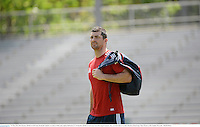 31 May 2013; Rob Kearney, British & Irish Lions, during the captain's run ahead of their game against Barbarian FC on Saturday. British & Irish Lions Tour 2013, Squad Captain's Run, Aberdeen Sports Ground, Aberdeen, Hong Kong, China. Picture credit: Stephen McCarthy / SPORTSFILE