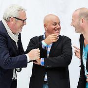 NLD/Haarlem/20120627 - Filmpremiere Ice Age 4, Ernst Daniel Smid, Jack van Gelder en Eddy Zoey