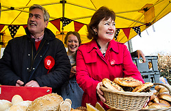 Pictured: Alice Chrighton was on hand if Iain Gray or Sarah Boyack got the prices wrong at the Allgourmant Bread stall.<br /> <br /> The former Scottish Labour leader Iain Gray joined colleague Sarah Boyack activists and supporters at a street stall at Stockbridge Market. <br /> Ger Harley | EEm 10 April 2016