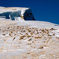 USA, Colorado, Keystone, Snow capped peak visited during a snowcat tour.