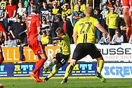 Burton Albion midfielder David Templeton (11) shoots at goal during the EFL Sky Bet League 1 match between Burton Albion and Scunthorpe United at the Pirelli Stadium, Burton upon Trent, England on 29 September 2018.