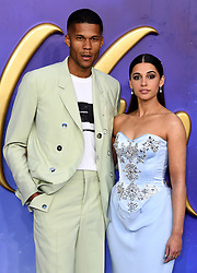 Jordan Spence and Naomi Scott attending the Aladdin European Premiere held at the ODEON Luxe Leicester Square, London