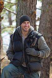 handsome rugged outdoorsman smiling