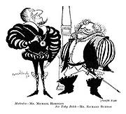 Twelfth Night. Malvoliio - Mr. Michael Horden. Sir Toby Belch - Mr. Richard Burton.