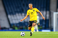 Youri Tielemans (#17) of Belgium on the ball during the International Friendly match between Scotland and Belgium at Hampden Park, Glasgow, United Kingdom on 7 September 2018.